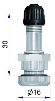 Никелированный б/к вентиль  R-1533-2